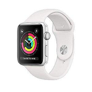 Apple Watch Series 3, 42 Mm, Alumínio Prata, Pulseira Esportiva Névoa E Fecho Clássico, Mql02Bz/A