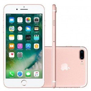 iPhone 7 PLUS 128GB Rosa Desbloqueado IOS 10 Wi-fi + 4G Câmera 12MP - Apple