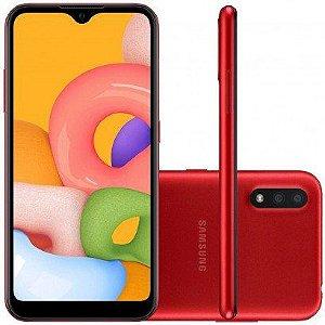 Smartphone Samsung Galaxy A01 32GB 2GB RAM Vermelho