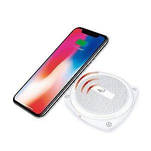Carregador Wireless De Mesa Para Celular - Tecnologia Qi - Branco