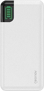 Carregador Portátil Universal 20.000mAh, 2 saídas USB QC 3 para carregamento rápido + 1 saída USB-C