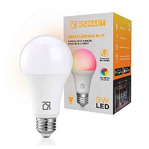 Smart Lâmpada RSmart Wi-Fi LED 9W Branco Compatível c/ Alexa