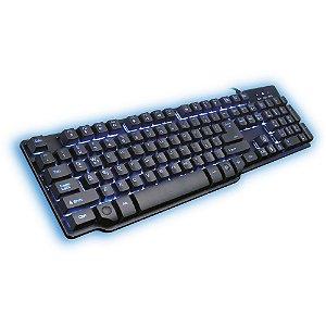 Teclado Gamer Semi Mecânico Hydra USB Preto e Azul – Mymax
