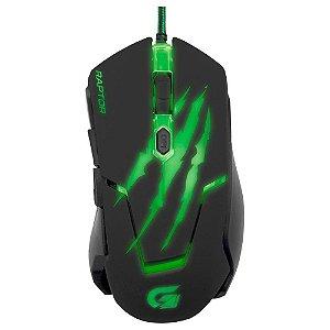 Mouse Gamer Fortrek Raptor Series 3200DPI com 6 Botões Preto OM801