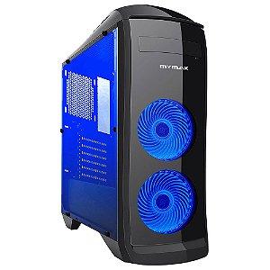 Gabinete Gamer Pegasus Preto LED Azul – Mymax