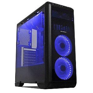 Gabinete Gamer Tornado Preto LED Azul – Mymax