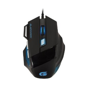 Mouse Gamer Fortrek Black Hawk 2400DPI Preto/Azul OM-703