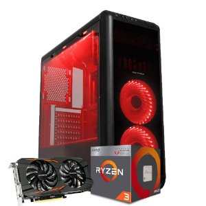 Computador Mega Gamer 2, AMD RYZEN 3 2200G, GeForce GTX 1050 2GB, 8GB DDR4, HD 1TB + SSD 240GB, 500W
