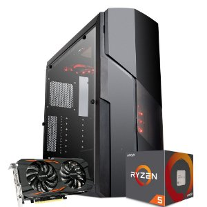 Computador Mega Gamer 3, AMD RYZEN 5 2400G, GeForce GTX 1050TI 4GB, 16GB DDR4, HD 1TB, 500W