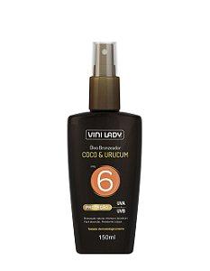 Óleo Bronzeador Coco e Urucum FPS6 150ml