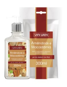 Sabonete Líquido Hidratante Amêndoas e Macadâmia 350ml + Refil Sache 300ml