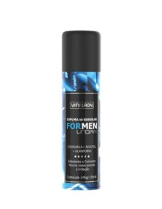 Espuma de Barbear For Men Urban Camomila + Mentol + Alantoína 145gr/150ml
