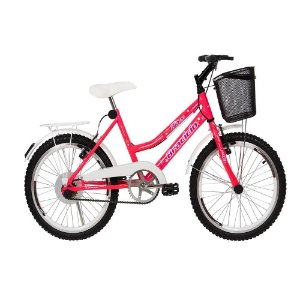 Bicicleta Bia Braciclo ARO 20 Feminina Rosa com Kit Branco