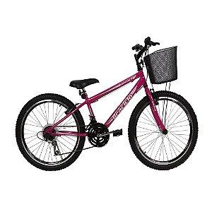 Bicicleta Winner Braciclo ARO 24 18 Velocidades Feminina