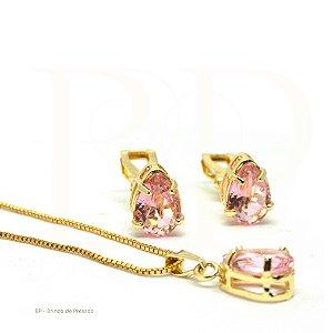 Conjunto  -  Marion  Rosa Translucido Dourado