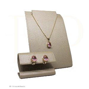 Conjunto  - Pequeno Rosa Translúcido