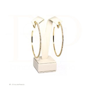 Argola  -  Perla Dourado