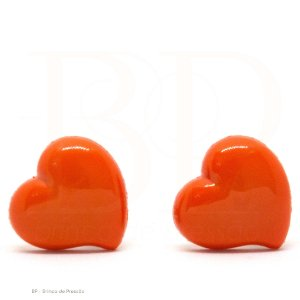 Acrílico  Coração Laranja