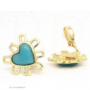 Delicado  Coração Azul