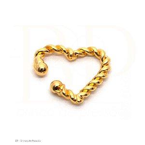 Ear Cuff  - Coração Dourado