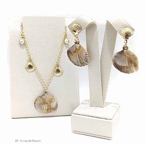 Maresia - Conjunto Conchas dourada