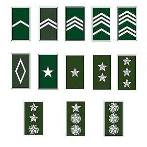 Distintivo Emborrachado de Gola (Soldado a Coronel) - Exército Brasileiro