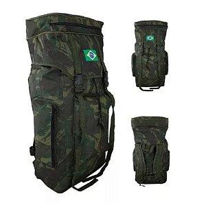 Mochila Impermeável Camuflada Exército Brasileiro