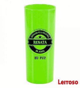 Copo Long Drink Verde Personalizado