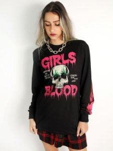 Camiseta Mastrobiso Sangue de Garotas Preta