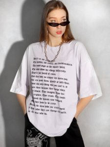 Camiseta Boy Over Troublemaker Branca