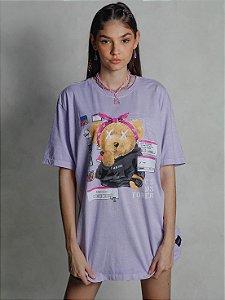 Camiseta Boyfriend 00´s Kids Forever Lilás