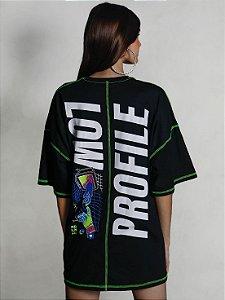 Camiseta Boy Over Recorte Low Profile Preto