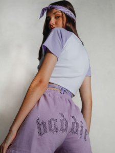 Shorts Cushy Baddie Lilás