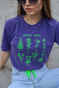Camiseta Estonada Witches Weeds Roxa