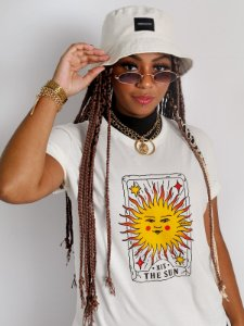 Camiseta Basic The Sun Off White