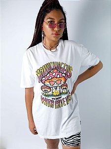 Camiseta Boyfriend Hallucinogens Branco