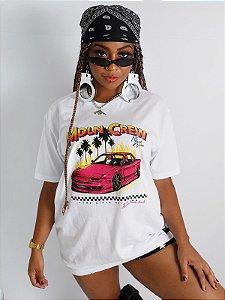 Camiseta Boyfriend MDLN Crew Branco