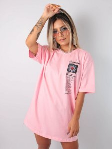 Camiseta Boyfriend True Meaning Of Life Rosa