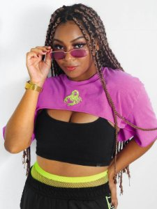 Mini Cropped Scorpion Roxo Neon