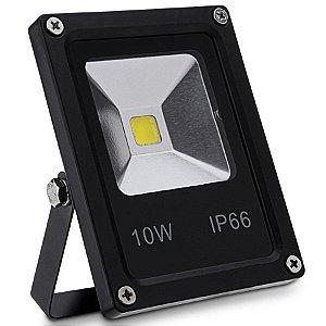 Refletor Holofote LED 10w Branco Frio 6000k Preto