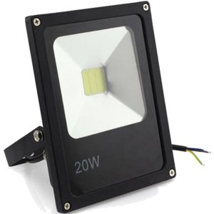 Refletor Holofote LED 20w Branco Frio 6000k Preto