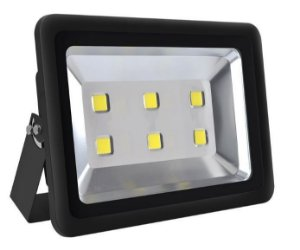 Refletor Holofote LED 300w Branco Frio 6000k Preto