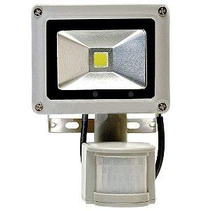 Refletor Holofote LED 10w Sensor de Presença Branco Frio 6000k