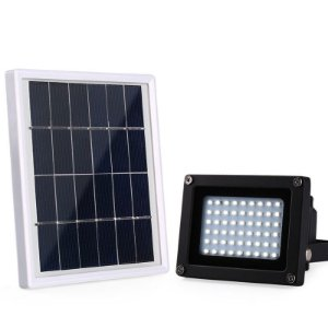 Refletor LED Solar 30w 55 Leds Auto Recarregável