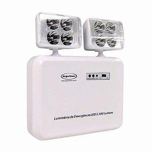 Luminária de Emergência LED 2.200 Lúmens | 2 Faróis