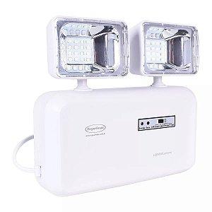 Luminária de Emergência LED 600 Lúmens 2 Faróis