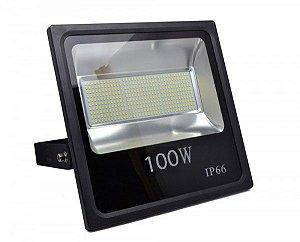 Refletor Holofote MicroLED 100W Branco Frio 6000k