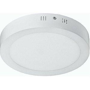 Luminária Plafon 18w LED Sobrepor Branco Frio 6000k