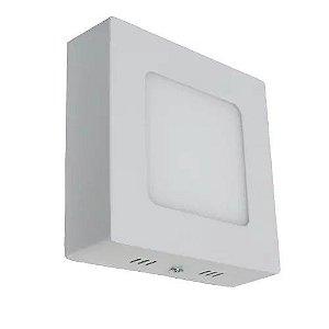 Luminária Plafon 6w LED Sobrepor Branco Quente 3000K