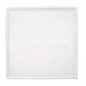 Luminária Plafon 60x60 48W LED Embutir Branco Frio 6000k Borda Branca